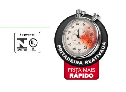 Fritadeira Elétrica Zona Fria 18 Litros Reativada FCZR Inox 220v Skymsen