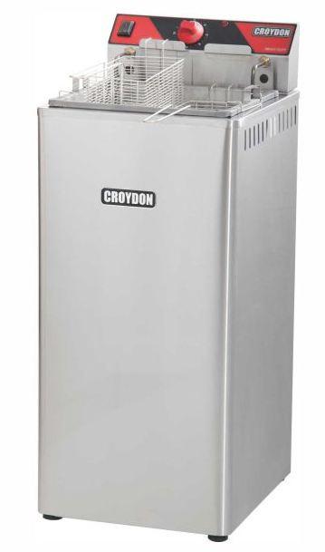 Fritadeira Elétrica Zona Fria de Óleo 15 Litros 5000 W FZ25 P 220v Croydon