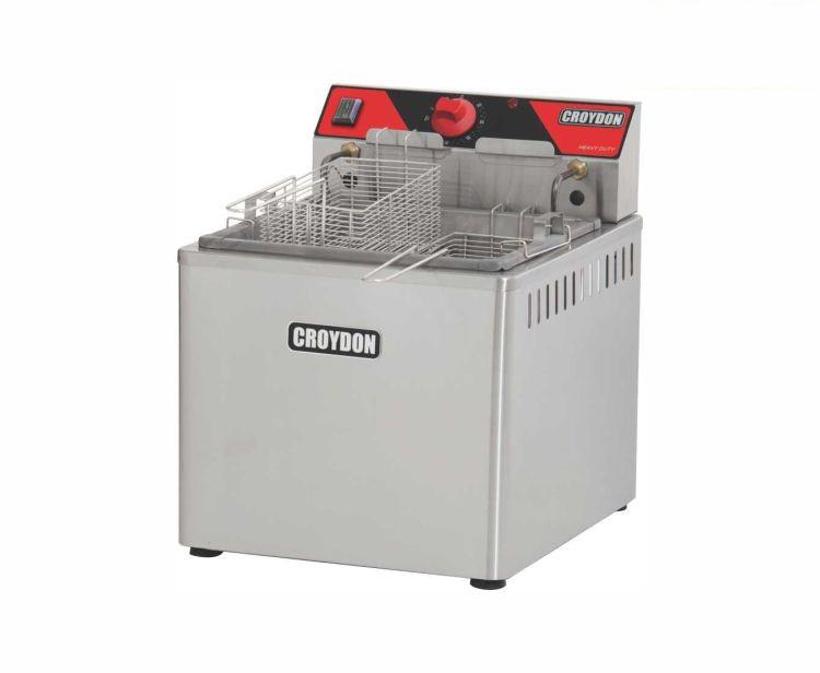 Fritadeira Elétrica Zona Fria de Óleo 15 Litros 5000 W FZM5 M 220v Croydon