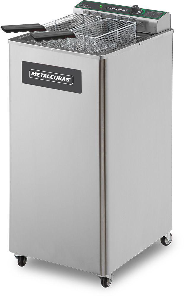 Fritadeira Elétrica Zona Fria de Óleo 15 Litros 5000 W FOE 15 P 220v Metalcubas