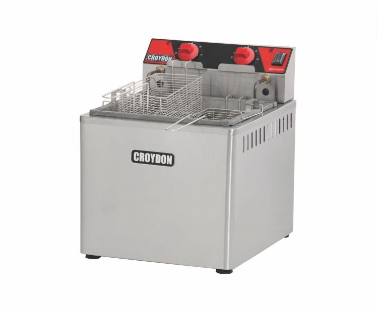 Fritadeira Elétrica Zona Fria de Óleo 15 Litros 8000 W FZM8 M 220v Croydon