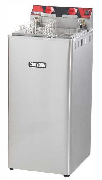 Fritadeira Elétrica Zona Fria de Óleo 15 Litros 8000 W FZ28 P 220v Croydon