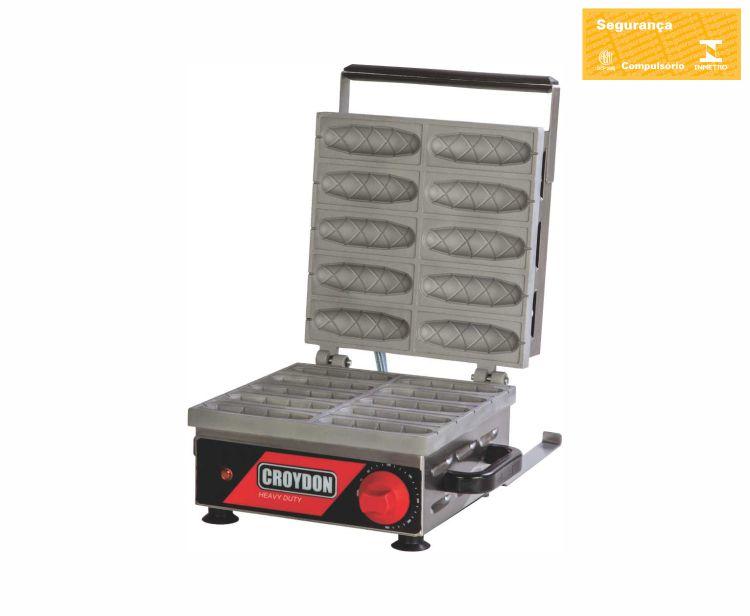 Máquina de Crepe Suiço Crepeira 10 Cavidades CRPP 110v Croydon