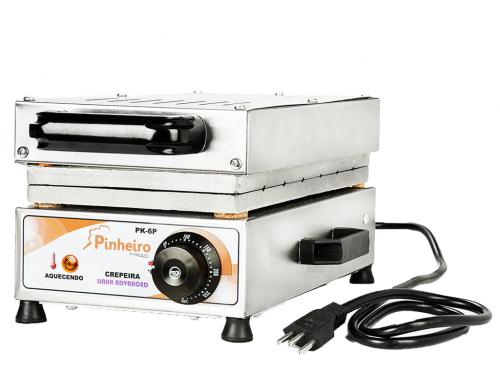 Máquina de Crepe Suiço Crepeira 6 Cavidades Bivolt Pinheiro