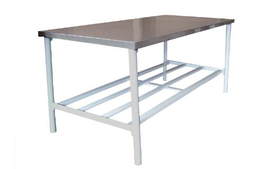 Mesa de Trabalho Inox 430 190 x 90 BA 1900/90 Metalcubas