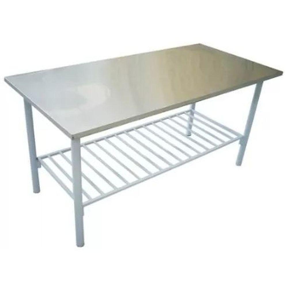 Mesa Inox 430 0,5mm 1,90 X 0,70 c/ prateleira - Innal