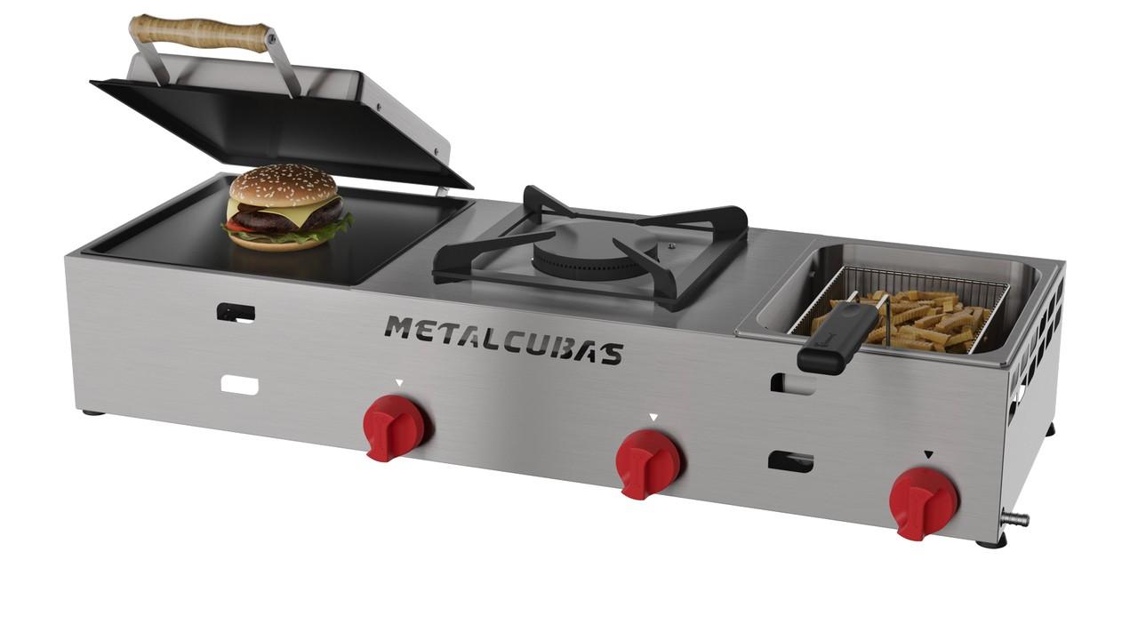 Multi Grill à Gás MGF-F Inox Metalcubas
