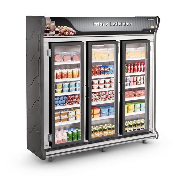 Refrigerador Expositor Auto Serviço Frios e Laticínios 3 Portas ASFL 3PP 220v Refrimate