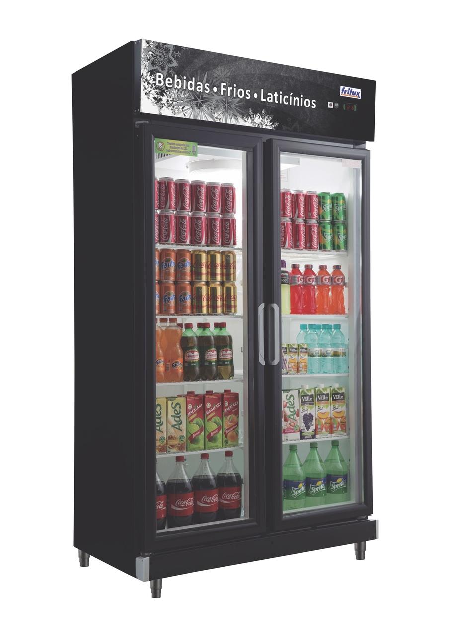 Refrigerador Expositor Frios e Laticínios 2 Portas RF-20 PR 220v Frilux