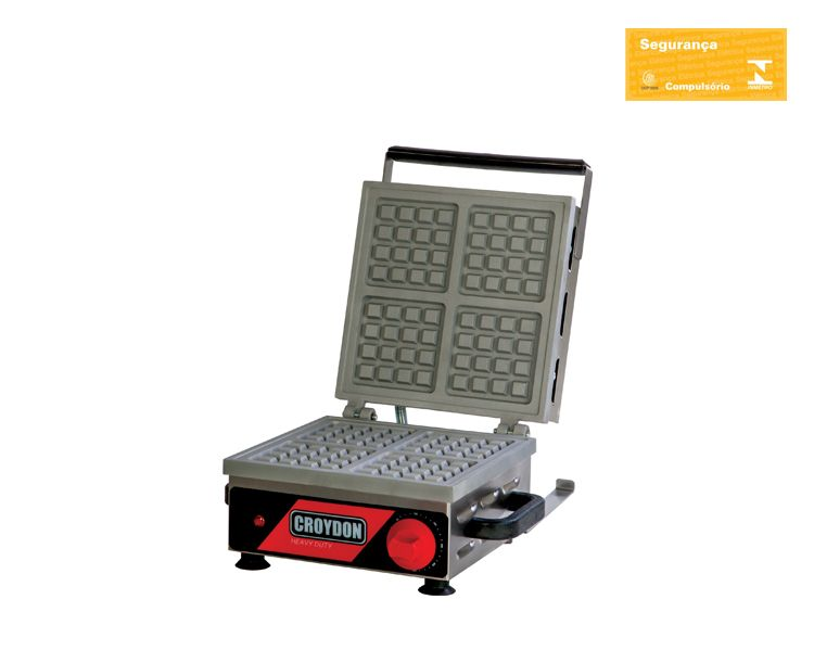 Máquina de Waffle Quadrada Simples MWQS - Croydon