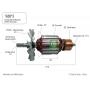 Induzido compatível Bosch 1571 GKS 235- Serra Circular 220 Volts- Eixo: 172 mm