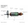 Induzido compatível Makita GDO-800-C - Retificadeira 220 Volts- Eixo: 146 mm