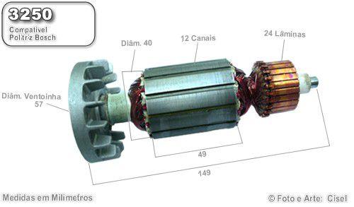Induzido Bosch 3250 - PPO 9-180 - Politriz b7bf84b69f8