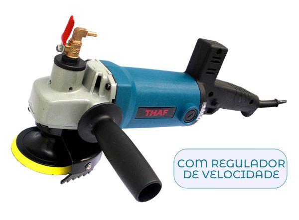 Politriz a Úmido (água) Com Regulador de Velocidade Thaf - 0-5600 RPM  920  W - Mod. WG-125 f5166624a35