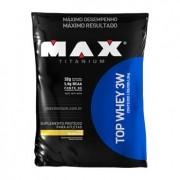 TOP WHEY 3W 1,8kg  SABOR BAUNILHA  - MAX TITANIUM