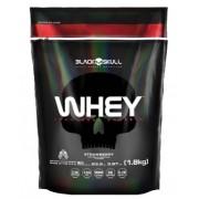 Whey 100% Whey Protein Refil (1.8kg) - SABOR MORANGO - Black Skull