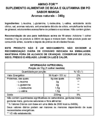 AMINO-TOR SYNTRAX ORANGE CITRUS (30 DOSES) - 340G