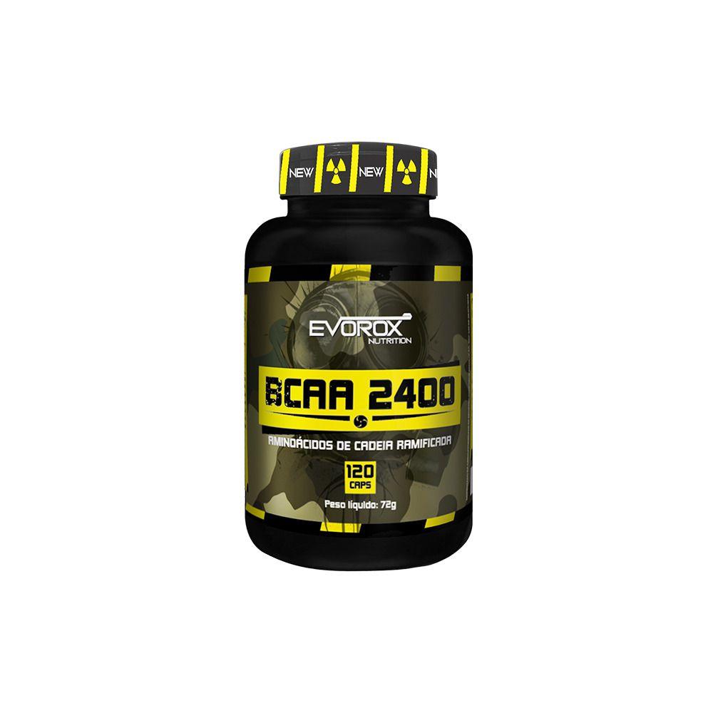 BCAA 2400MG 120 CÁPSULAS - EVOROX NUTRITION