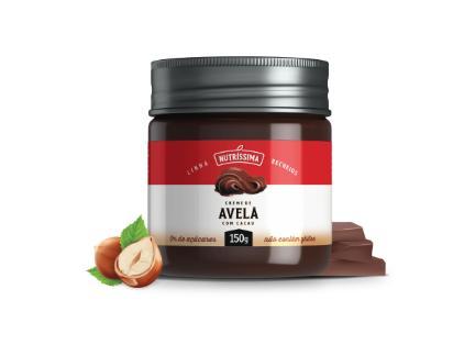 CREME DE AVELÃ COM CHOCOLATE ZERO AÇÚCAR 150G