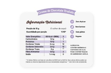 Creme de Chocolate Trufado com Castanha 450g