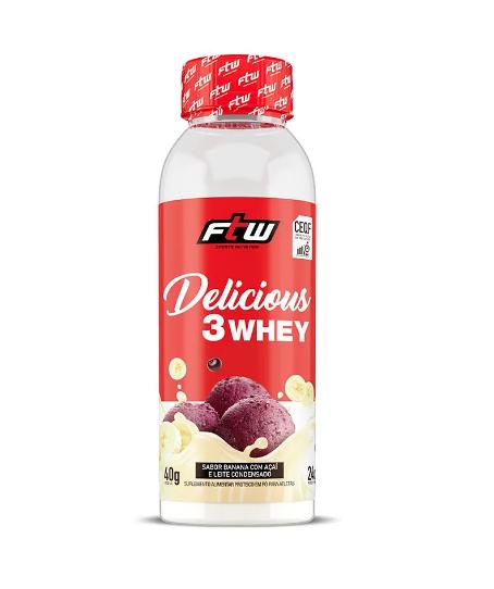 Delicious 3 Whey - Dose Única 40g - FTW