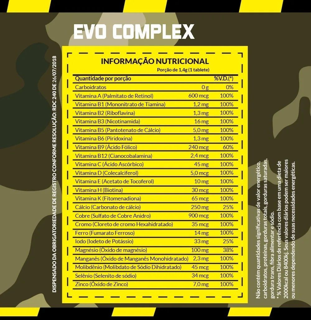 EVO COMPLEX 60 TABLETES - EVOROX NUTRITION