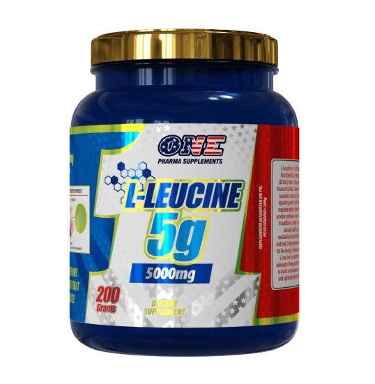 L-LEUCINE 5G  200 GRAMAS - ONE PHARMA