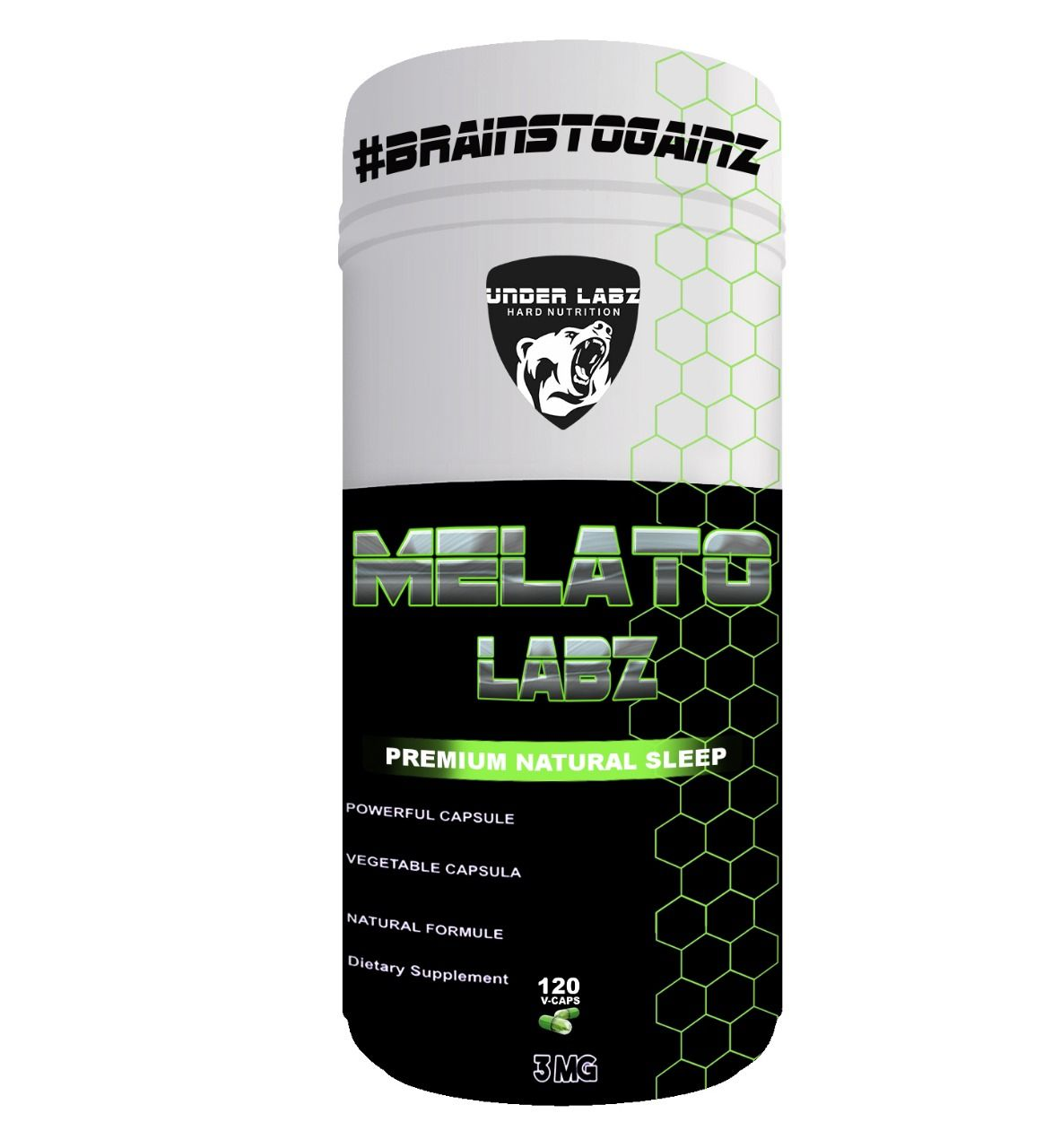 MELATO LABZ 120 V-CAPS - 3Mg Melatonin