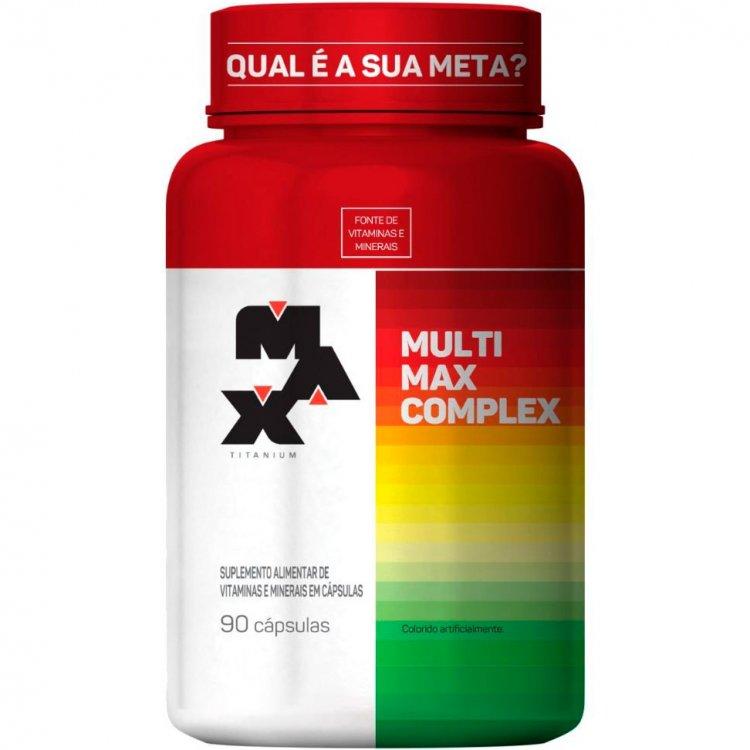 Multivitamínico Multimax Complex - 90 Cápsulas - Max Titanium