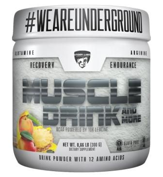MUSCLE DRINK 300G YELLOW FRUIT - UNDER LABZ