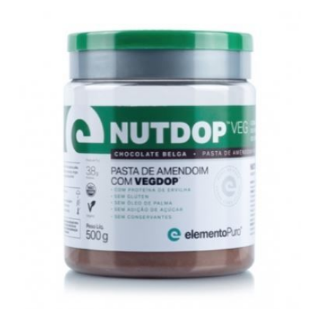 NUTDOP VEG PASTA DE AMENDOIM (500G) - Chocolate Belga