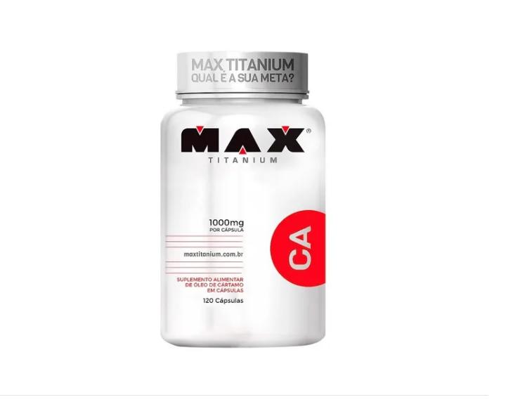 Óleo De Cartamo Ca 120 Cápsulas - Max Titanium