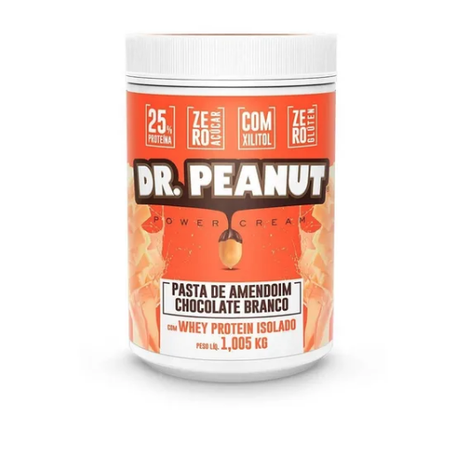 Pasta De Amendoim 1,005kg- Dr Peanut - Whey Isolado+ Xilitol