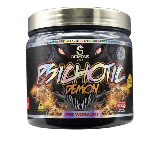 PRÉ TREINO PSICHOTIC DRAGON DEMONS LAB 500g - Sabor Fruit Punch