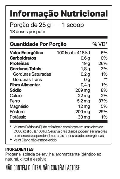 VEGDOP 900G - 100% PROTEÍNA DE ERVILHA