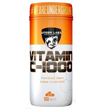 VITAMIN C 1000MG 100 TABLETS - UNDER LABZ