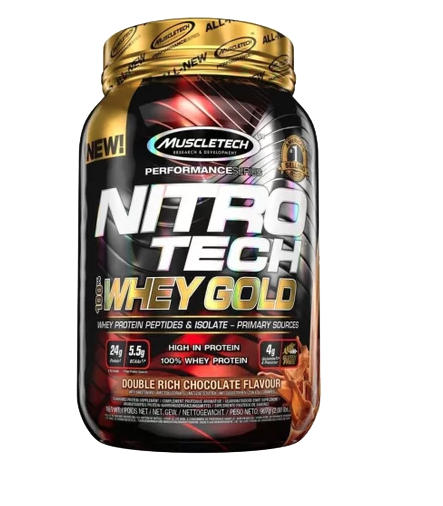 Whey Protein Nitro Tech 100% Whey Gold 2.2 Lbs Muscletech - Baunilha