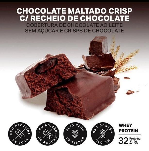 WHEYDOP BAR DISPLAY 480G 12 BARRAS DE 40G CHOCOLATE MALTADO
