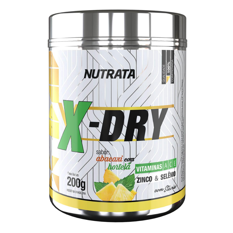 X-DRY 200g SABOR ABACAXI COM HORTELÃ - NUTRATA