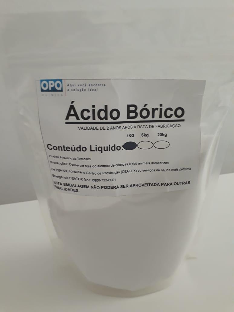 Ácido Bórico - 25 Kg, 20 Kg, 15 Kg, 10 Kg, 05 Kg e 01 Kg