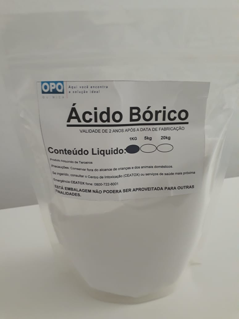 Ácido Bórico Argentino - 25 Kg, 20 Kg, 15 Kg, 10 Kg, 05 Kg e 01 Kg