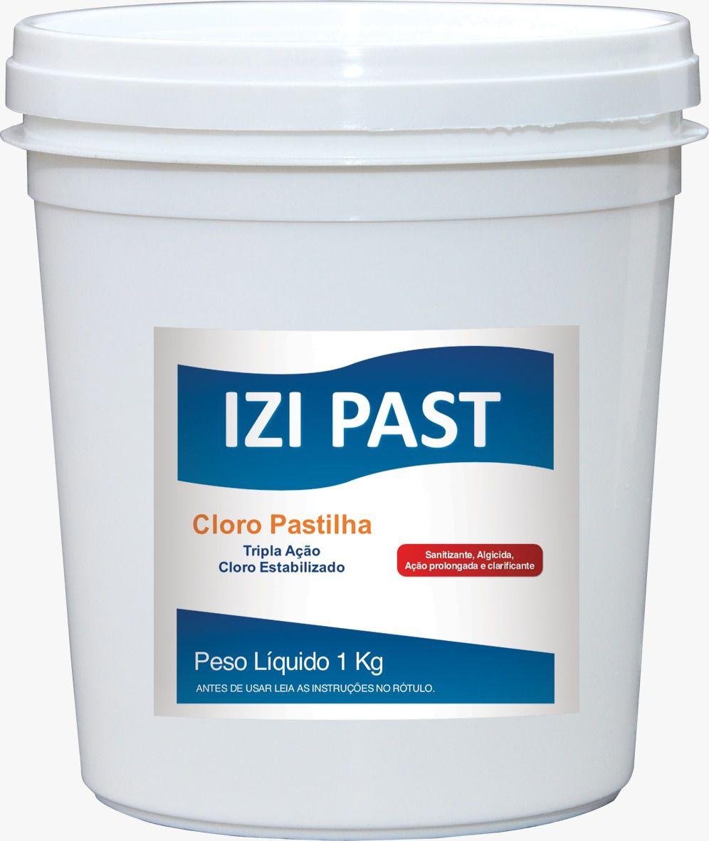 Cloro para Piscina - IZI Past - Tricloro Pastilhas, 200 gramas, 1 kg, 5 kg, 10 kg
