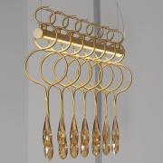 PENDENTE MEDUSA LED 6W BRONZE COM CRISTAIS AMBAR - LP168340 STARLUX