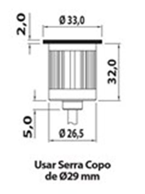 BALIZADOR DOT SPOT LED 0,5W 50LM 3000K IP65 BIVOLT - 70059 ILUCTRON