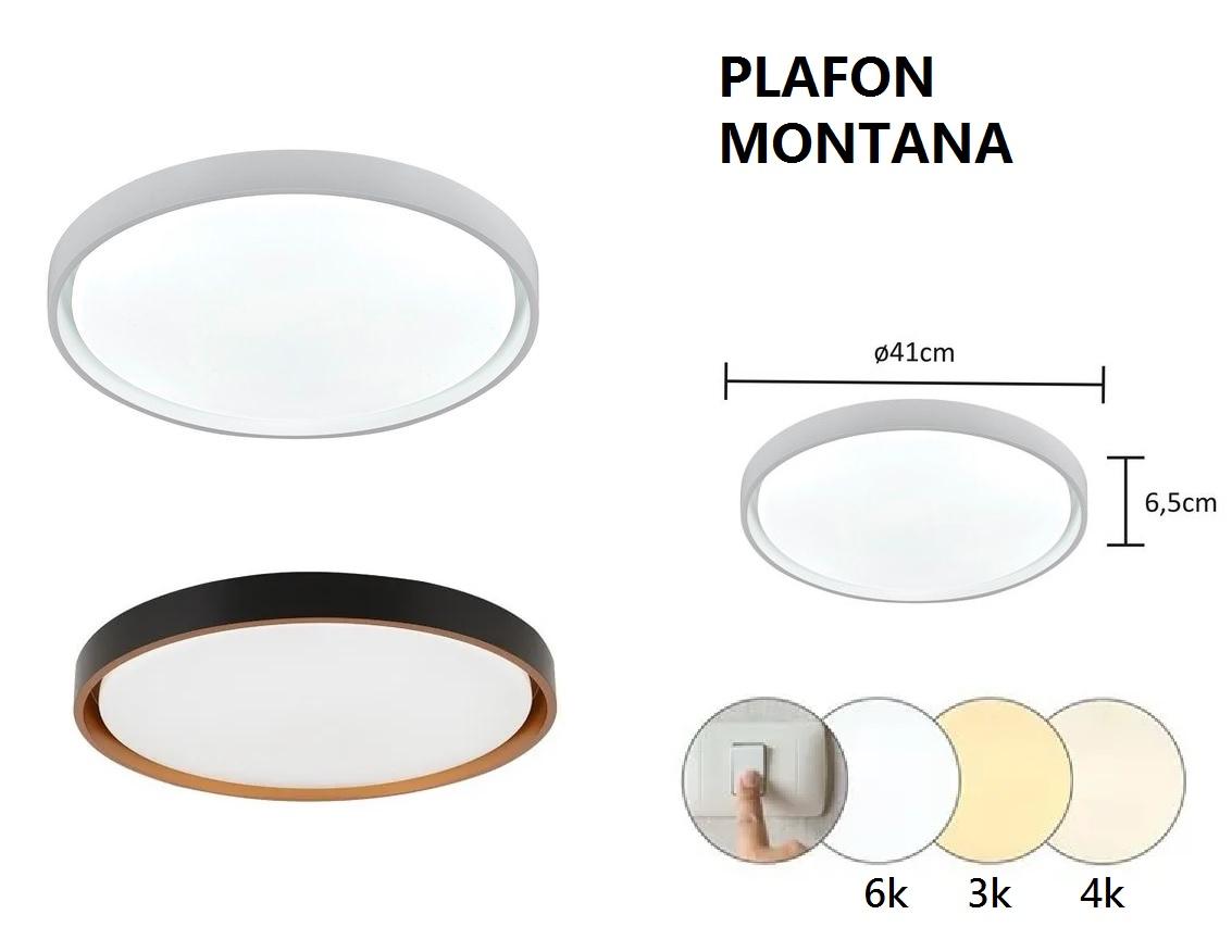 PLAFON MONTANA LED 24W 3000K, 4000K E 6000K 41X6,5CM BIVOLT - LY-8762M HEVVY