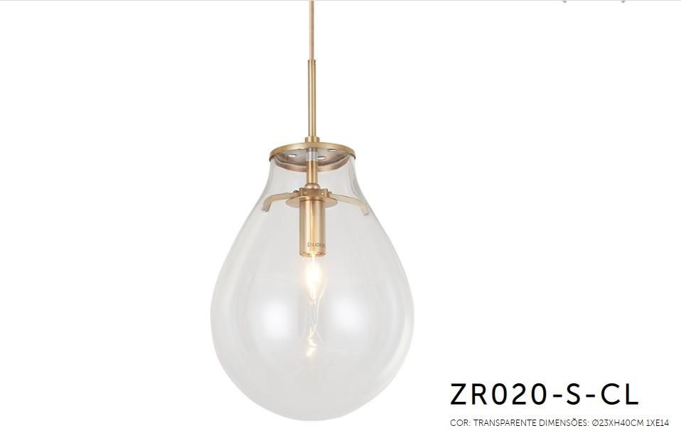 PENDENTE AMORA 23X30CM E14 - ZR020