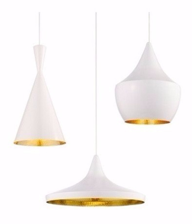 PENDENTE DESIGN TOM DIXON BRANCO  TD900/1/2 - TASCHIBRA