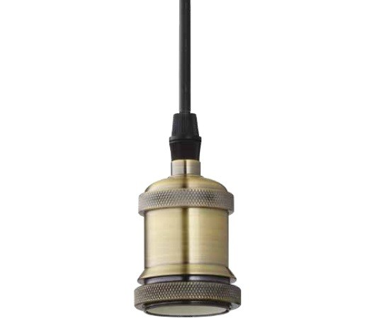 PENDENTE FILETTATO METAL BRONZE/COBRE - STELLA