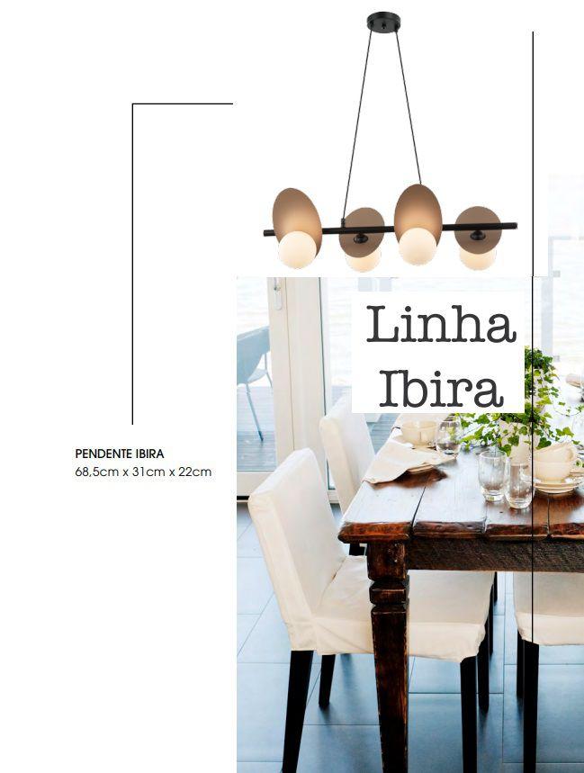 PENDENTE IBIRA ROSÉ 4XG9 - HL011S BELLA ILUMINAÇÃO