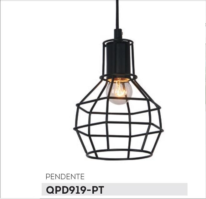 PENDENTE NICE ARAMADO PRETO 15CM - QPD919PT - CASUAL LIGHT